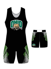 "Adult/Youth ""Overhook"" Custom Sublimated Wrestling Singlet with Grappler Shorts"