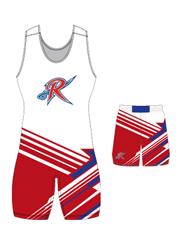 "Adult/Youth ""United"" Custom Sublimated Wrestling Singlet with Grappler Shorts"