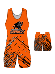"Adult/Youth ""Pin"" Custom Sublimated Wrestling Singlet with Grappler Shorts"