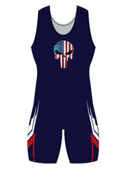 "Womens ""Tombe"" Custom Sublimated Wrestling Singlet"