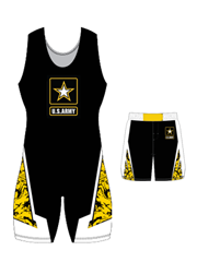"Adult/Youth ""Half Nelson"" Custom Sublimated Wrestling Singlet with Grappler Shorts"