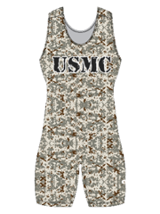 "Womens ""All Over Camo"" Custom Sublimated Wrestling Singlet"
