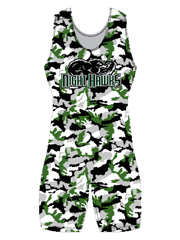 "Womens ""All Over Woodland"" Custom Sublimated Wrestling Singlet"