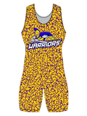 "Womens ""All Over Wrecked"" Custom Sublimated Wrestling Singlet"