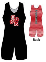 "Womens ""Back Pattern Blitz"" Custom Sublimated Wrestling Singlet"
