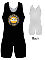 "Womens ""Back Pattern Diamond Plate"" Custom Sublimated Wrestling Singlet"