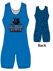 "Womens ""Back Pattern Wrecked"" Custom Sublimated Wrestling Singlet"