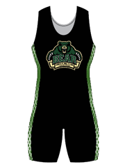 "Womens ""Side Pattern Blitz"" Custom Sublimated Wrestling Singlet"