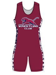 "Womens ""Side Pattern Camo"" Custom Sublimated Wrestling Singlet"