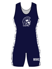 "Womens ""Side Pattern Nerve"" Custom Sublimated Wrestling Singlet"