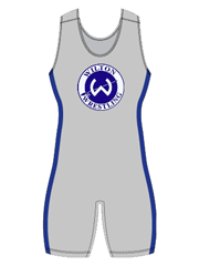 "Womens ""Side Pattern Solid"" Custom Sublimated Wrestling Singlet"