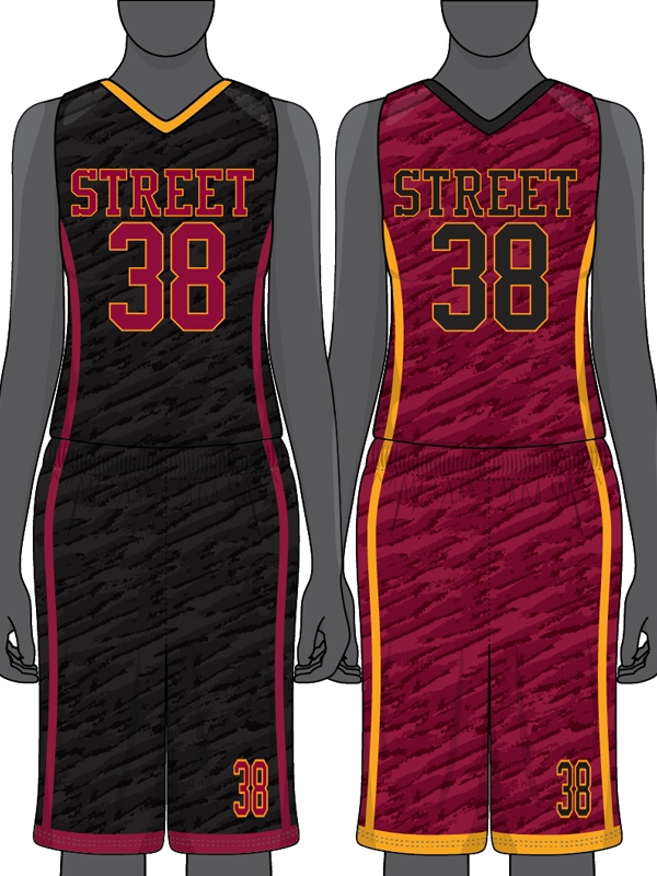71f6f4ffe53a Custom Sublimated Reversible Basketball Uniform Set