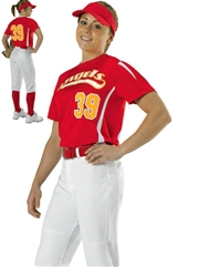 "Womens/Girls ""Bunt"" Moisture Control Softball Uniform Set With Pants D506CAW-506CAWYSOF-SETP"