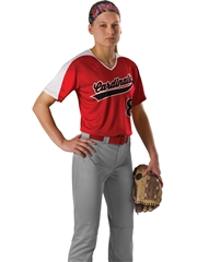 "Womens/Girls ""Phenom"" Moisture Control Softball Uniform Set With Pants D558VW-558VGSOF-SETP"