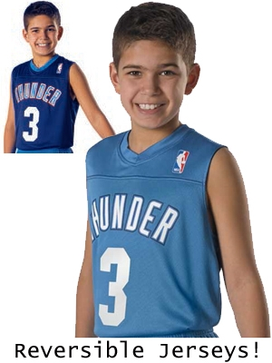 Youth NBA Replica Moisture Control Reversible Basketball Jersey DA105LYHOP