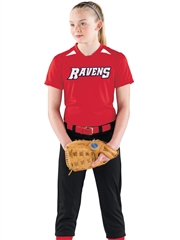 "Womens/Girls ""Cleanup"" Moisture Control Softball Uniform Set With Pants H322872-322871SOF-SETP"