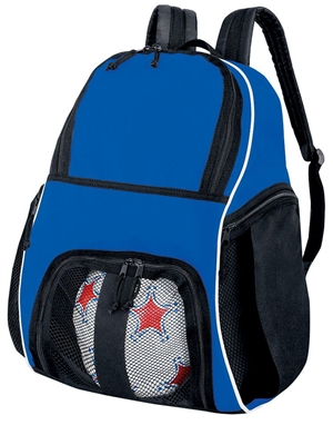 "Tri-Color Sport Backpack With Ball Pocket H327850BAG  ( 17""H x 18""W x 9""D )"