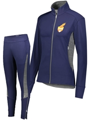 "Womens/Girls ""Jazz"" Full Zip Unlined Warm Up Set H371262-371263WU-SET"