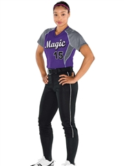 "Womens/Girls ""Smash"" Softball Uniform Set With Pants H372322-372323SOF-SETP"