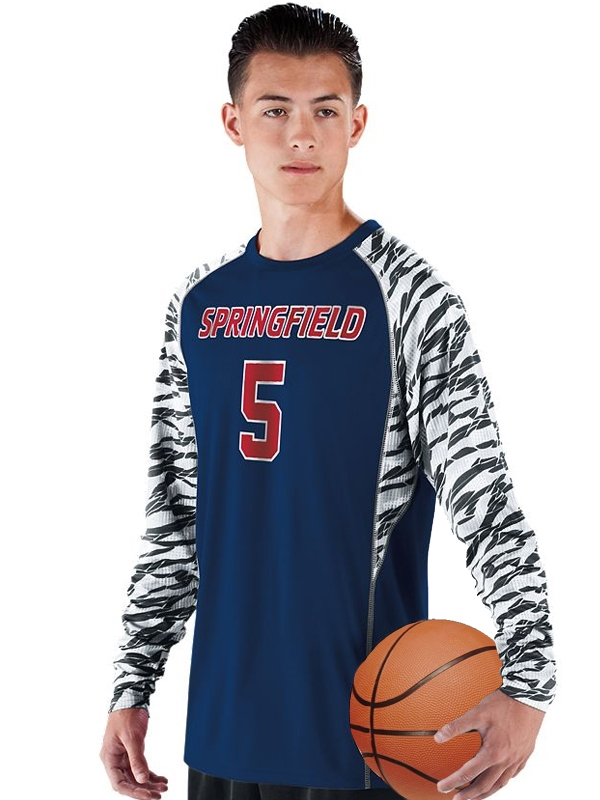 Youth Fragmented Spellbound Ls Moisture Control Long Sleeve