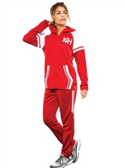 "Womens/Girls ""Flashback"" Full Zip Unlined Hooded Warm Up Set HL229761-229661WU-SET"