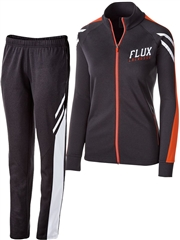 "Womens/Girls ""Heathered Decision"" Full Zip Unlined Warm Up Set HL229768-229668WU-SET"