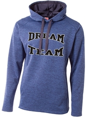 "Adult ""Heathered Leadership"" Fleece Hoodie N4103SWT"
