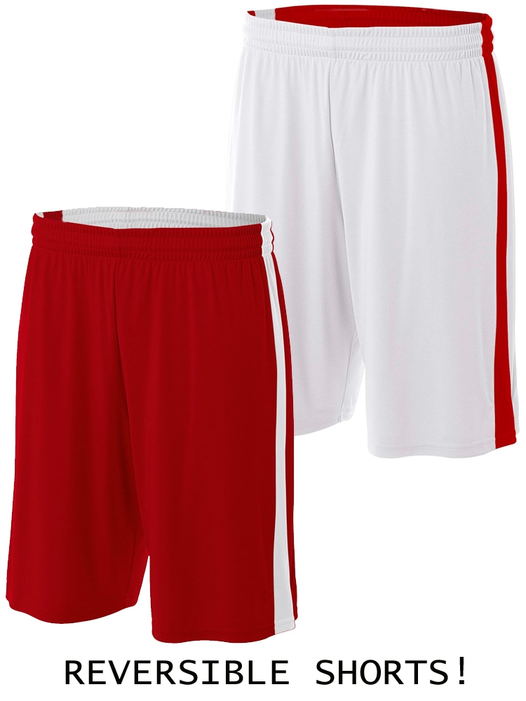 Precision Real Shorts 42-44 inch Black//Anfield Red