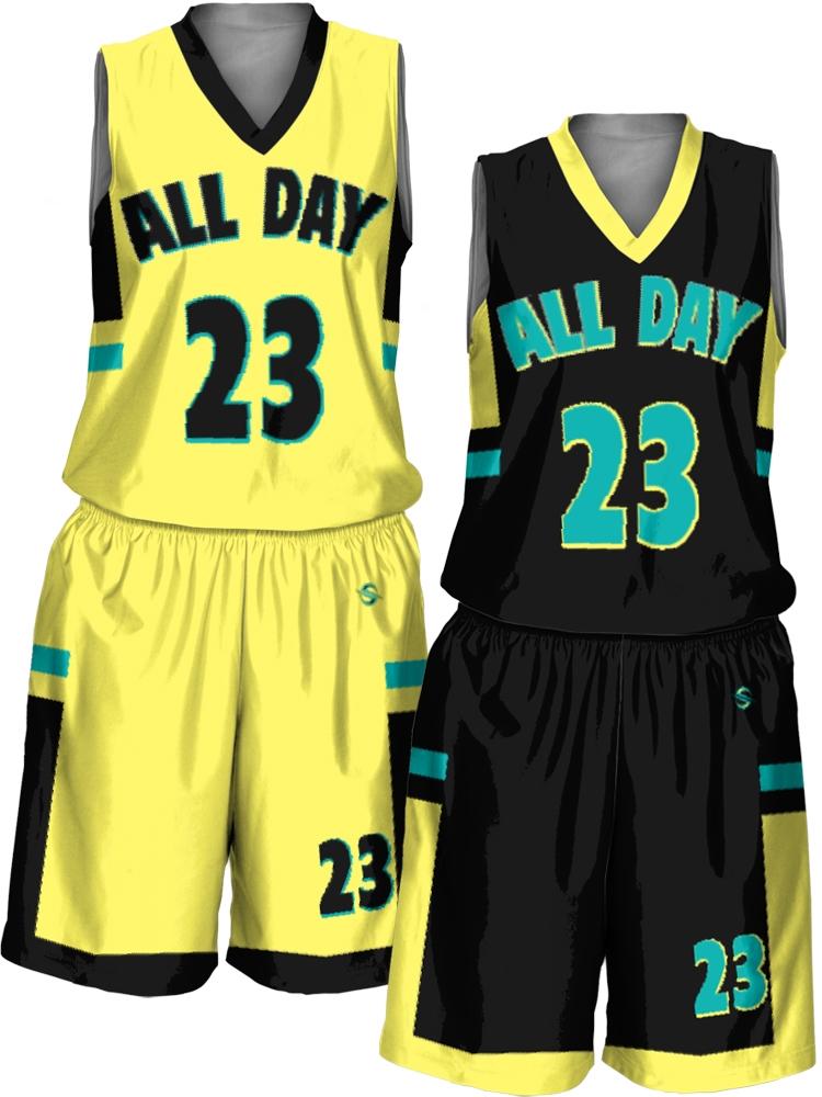 cbdf9fb12 Custom Sublimated Reversible Basketball Uniform Set