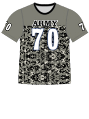 "Quick Ship Custom Program - Adult/Youth/Womens ""Camo Body Pattern"" Custom Flag Football Crew Neck Jersey"
