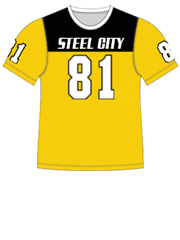 "Quick Ship Custom Program - Adult/Youth/Womens ""Solid Yoke"" Custom Flag Football Crew Neck Jersey"