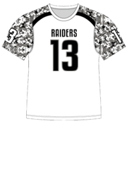 "Quick Ship Custom Program - Adult/Youth/Womens ""Strong Side Camo"" Custom Flag Football Crew Neck Jersey"