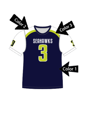 "Quick Ship Custom Program - Adult/Youth/Womens ""Strong Side"" Custom Flag Football Crew Neck Set"