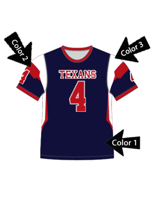 "Quick Ship Custom Program - Adult/Youth/Womens ""Play Action"" Custom Flag Football Crew Neck Set"