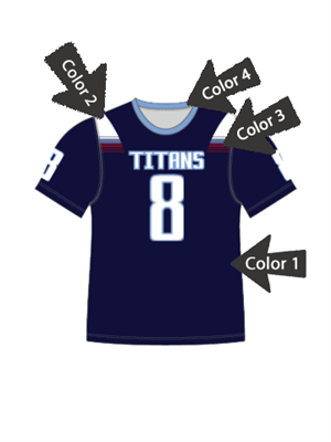 "Quick Ship Custom Program - Adult/Youth/Womens ""Collapse"" Custom Flag Football Crew Neck Set"