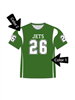 "Quick Ship Custom Program - Adult/Youth/Womens ""Impact"" Custom Flag Football Crew Neck Jersey"