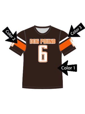 "Quick Ship Custom Program - Adult/Youth/Womens ""Push"" Custom Flag Football Crew Neck Set"