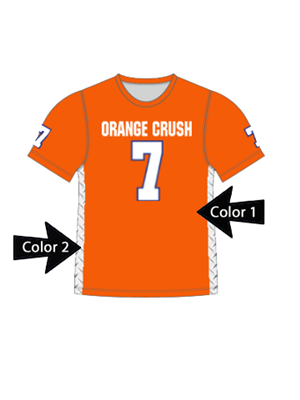 "Quick Ship Custom Program - Adult/Youth/Womens ""Diamond Plate Inserts"" Custom Flag Football Crew Neck Jersey"