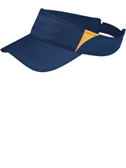Sport-Tek Colorblock Moisture Control Hook-and-Loop Softball Visor SSTC13SOF