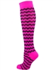 Awareness Wavy Stripe Over the Calf Sock TCLP042-TP