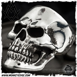 Ace Metal Works Ring: Ace Skull Large Polished - Silver