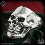 Ace Metal Works Ring: Ace Skull Small Polished - Silver