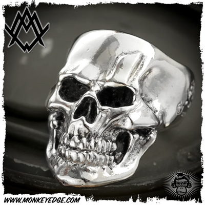 Ace Metal Works Ring: Ace Bolt Skull Small Polished - Silver