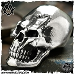Ace Metal Works Bead: Ace Bolt Skull Textured - Silver