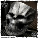 Ace Metal Works Ring: Ace Wrap Skull Large - Silver Textured