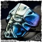 Ace Metal Works Ring: Ace Wrap Skull Large - Titanium