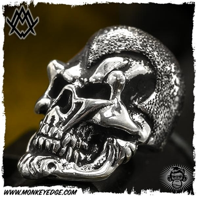 Ace Metal Works Bead: Ace Ming Skull Textured - Silver