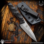 Bawidamann Blades: Huginn Slicer Double Edge - Stonewashed/Carbon Fiber 3V Monkey Edge Exclusive