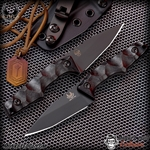Bawidamann Blades: Muninn Slicer - Smoke/Carbon Fiber 3V Monkey Edge Exclusive