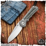 Chris Reeve Knives: Inkosi Small Insingo Inlay - Black Micarta